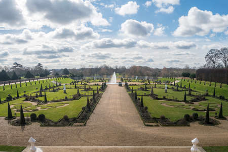 Hampton Court Palace with green Gardens
