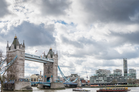 Tower Bridge in London over the River Themse Editorial