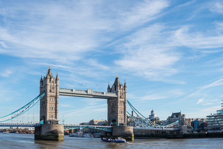 Tower Bridge in London over the River Themse Stock Photo
