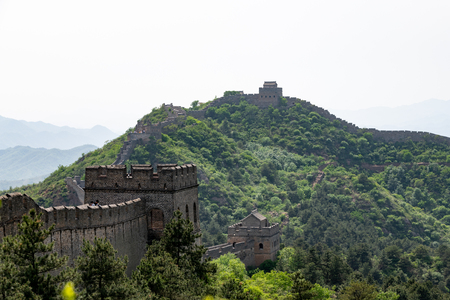 Great wall of China in the Hubei province, Jinshanling in China
