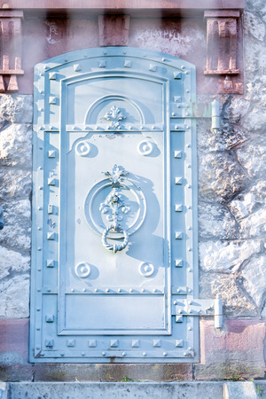 Gate of an ancient water plant in pforzheim, Germany Reklamní fotografie - 107712319