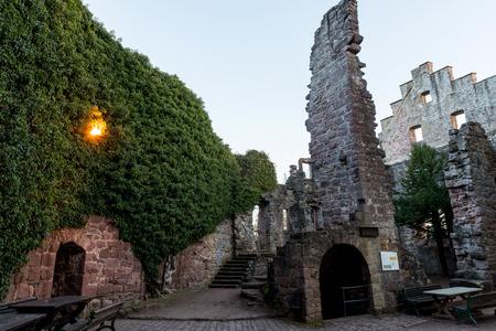 Castle ruin of Zavelstein in Germany in black forrest