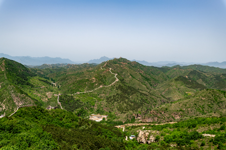 Simatai great wall close to gubei water town in Beijing in China, Great wall of China Reklamní fotografie - 107716453