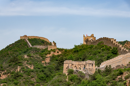 Great wall of China in the Hubei province, Jinshanling in China Reklamní fotografie - 107716534