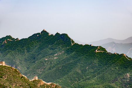 Simatai great wall from Jinshanling side, in Beijing in China, Great wall of China