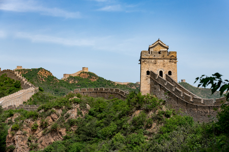 Great wall of China in the Hubei province, Jinshanling in China Reklamní fotografie - 107716537