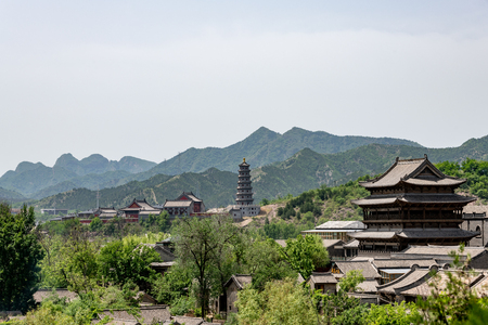 Gubei watertown in Simatai in Beijing in China, replica of an ancient Chinese village Redakční