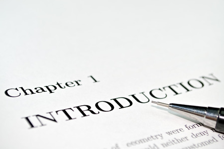 Introductory words at the beginning of a professional paper photo