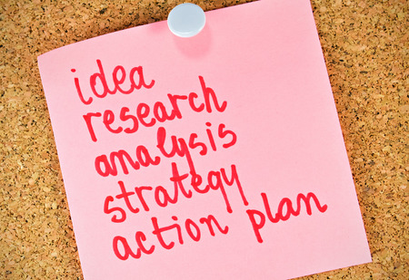 realization: Modern approach to the realization of an idea step by step Stock Photo