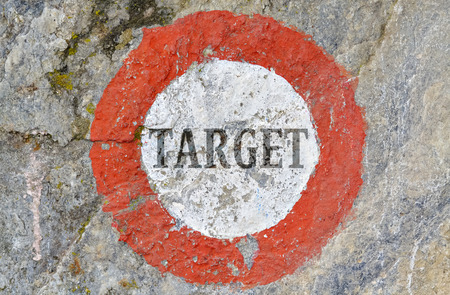 strictly: Conceptual expression of the relevance of strictly selected target Stock Photo