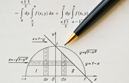 Closeup of an open mathematical book on differential and integral calculus