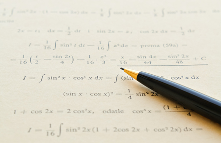 differential: Closeup of mathematical lessons on differential and integral calculus Stock Photo