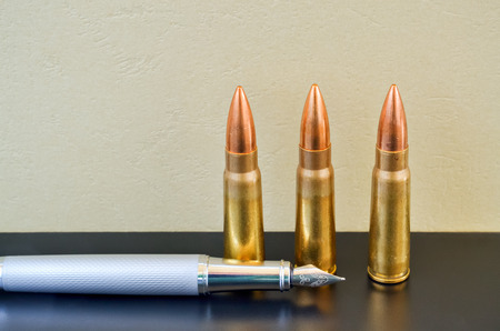 preference: Pen and bullets as a preference of words instead of violence
