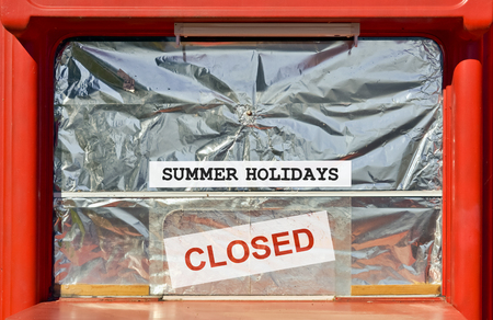 temporarily: Temporarily suspended business during summer holidays