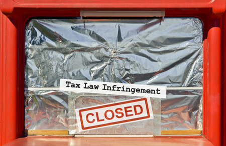 tax law: Closed kiosk by the financial inspection for tax law infringement