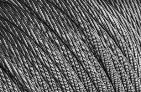 steel cable: Closeup of a steel cable wrapped in a roll