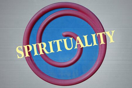 grown with love: Spiral and the word Spirituality written over it