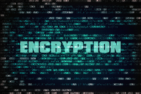 Word Encryption written over unreadable encrypted data
