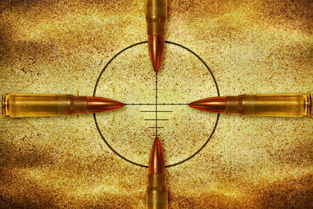 nonsense: Four bullets aiming in the same target from different direction