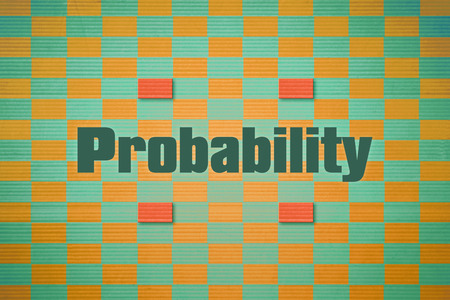 discrete: Design which relates to the branch of mathematics named Probability