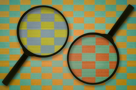 意見の相違や、物事のさまざまな観測についての概念 写真素材 - 64193455