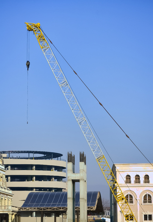 Detail of construction site during the work on new building