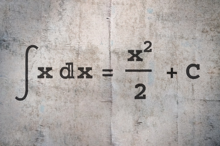 Integral of a function on old wooden background
