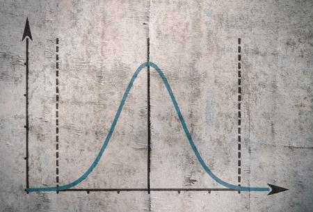 Célèbre courbe de Gauss représentant la distribution des probabilités Banque d'images