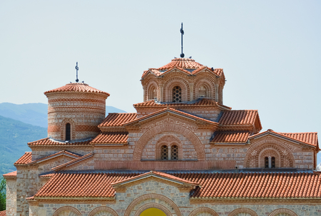 Detail of a famous monastery of Plaosnik in Ohrid after the restoration