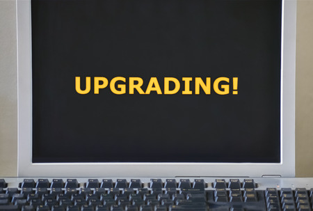 Keyboard and word Upgrading on the computer monitor