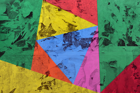Colorful abstract background with triangular shapes in vibrant colors Stock Photo