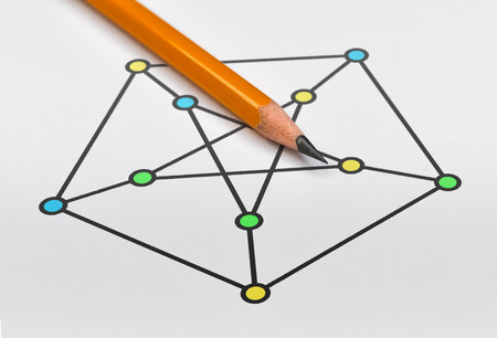 Example of graph called Petersen graph and vertex coloring
