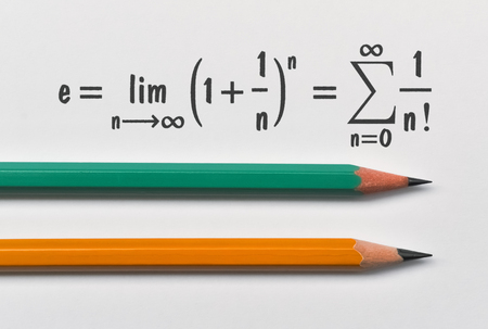Definition of the Eulers constant in two different ways and two pencils 写真素材