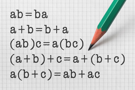 Fundamental properties of the basic mathematical operations on bright background 写真素材