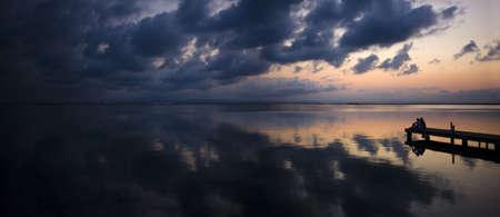 Atardecer en el lago de Valencia