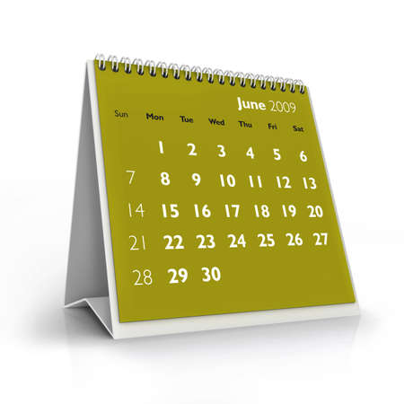 calendar, June 2009