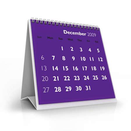 almanacs: 3D desktop calendar, December 2009