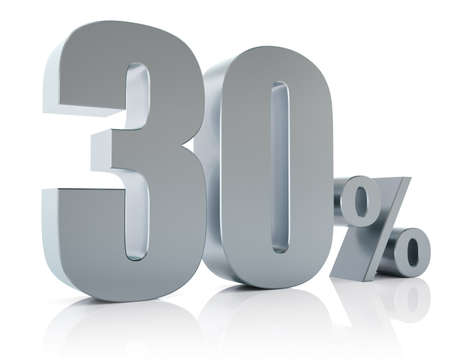 Thirty percent metallic discount symbol  Stock Photo