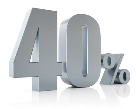 Forty percent metallic discount symbol