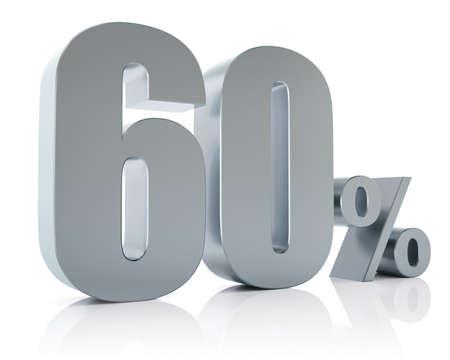 Sixty percent metallic discount symbol  photo