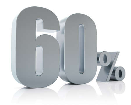 Sixty percent metallic discount symbol