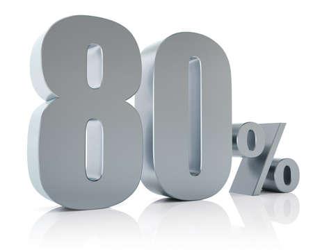 achtzig: Achtzig Prozent Rabatt metallischen Symbol Lizenzfreie Bilder
