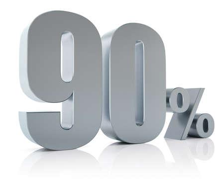 Ninety percent metallic discount symbol Reklamní fotografie