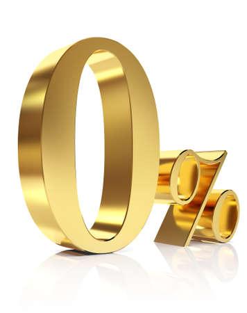 Zero percent 3D in gold