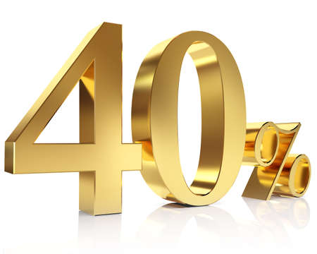 Forty percent 3D in gold