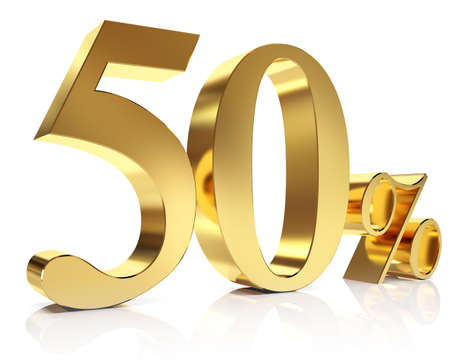 Fifty percent 3D in gold