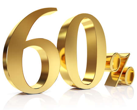 Sixty percent 3D in gold