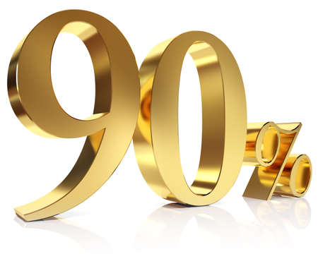 ninety: Ninety percent 3D in gold