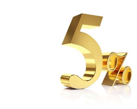 Five percent 3D in gold