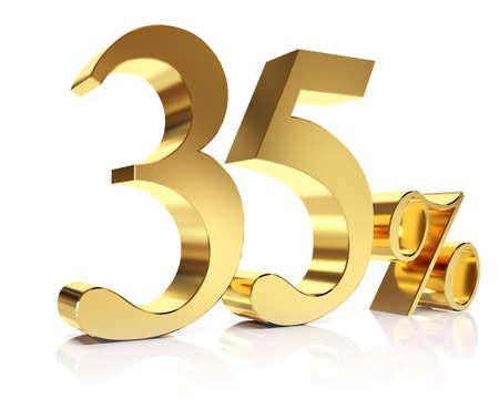 thirty five: Trentacinque per cento in oro 3D